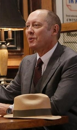 James Spader with JJ Hat Center The Camden Hat in The Blacklist