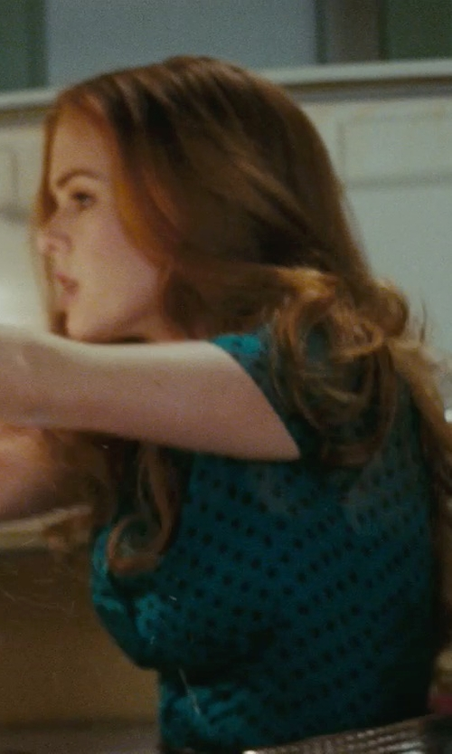 Isla Fisher with 7th Avenue Design Studio Madison Polka Dot Shirt in Confessions of a Shopaholic