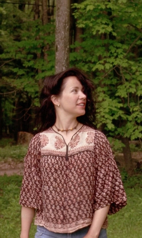 Janeane Garofalo with Trendology Coconut Blouse in Wet Hot American Summer