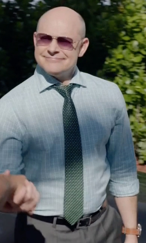 Rob Corddry with Guess Chronograph Leather Strap Watch in Ballers