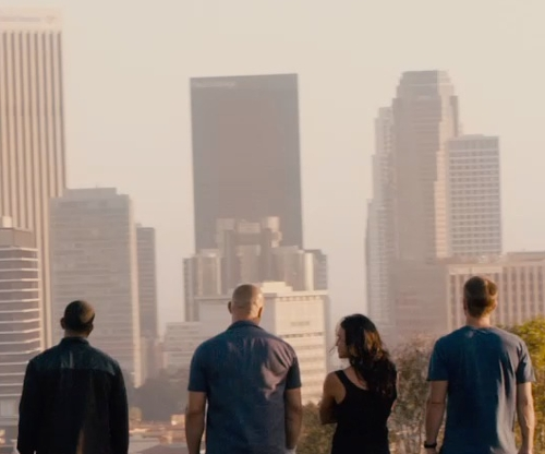 Unknown Actor with Westin Bonaventure Hotel Los Angeles, California in Furious 7