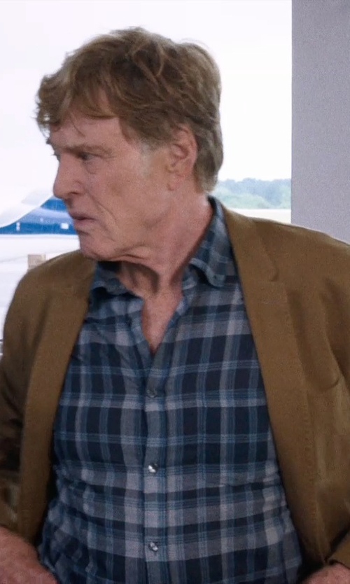 Robert Redford with Ralph Lauren Classic-Fit Plaid Cotton Shirt in A Walk in the Woods