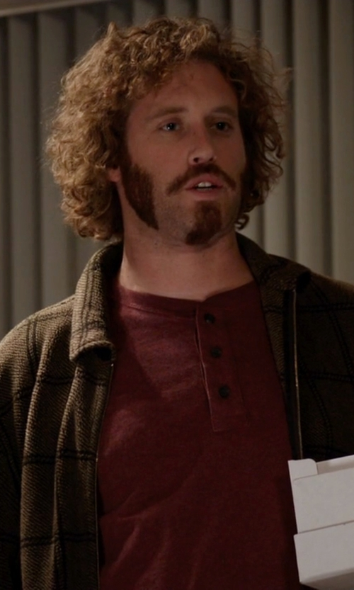 T.J. Miller with U.S. Polo Assn. Men's Marled Full-Zip Sweater in Silicon Valley
