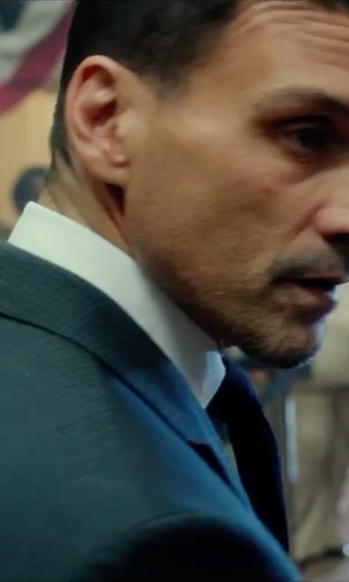 Frank Grillo with Hardy Amies Brinsley-Fit Checked Wool Suit in The Purge: Election Year
