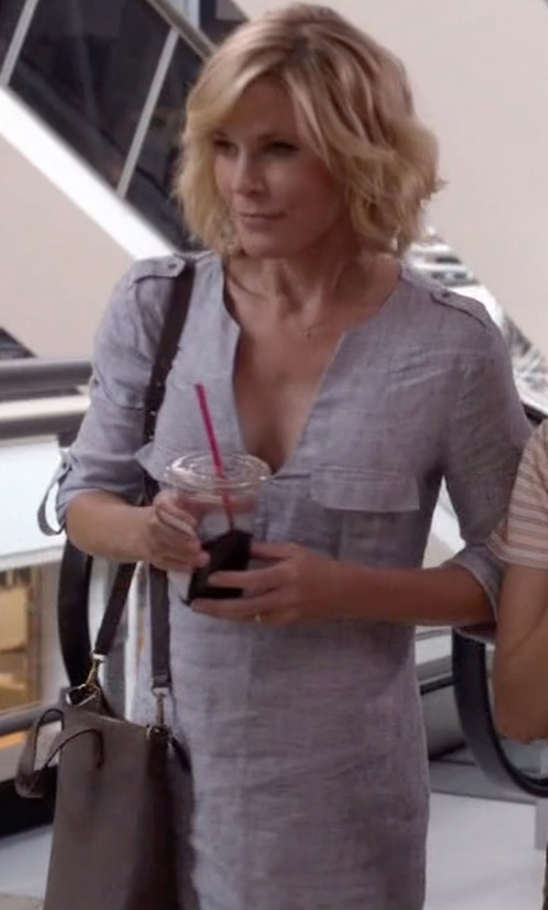 Julie Bowen with Madewell The Mini Transport Crossbody Bag in Modern Family