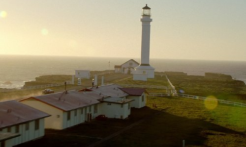 Aaron Paul with Point Arena Lighthouse Point Arena, California in Need for Speed