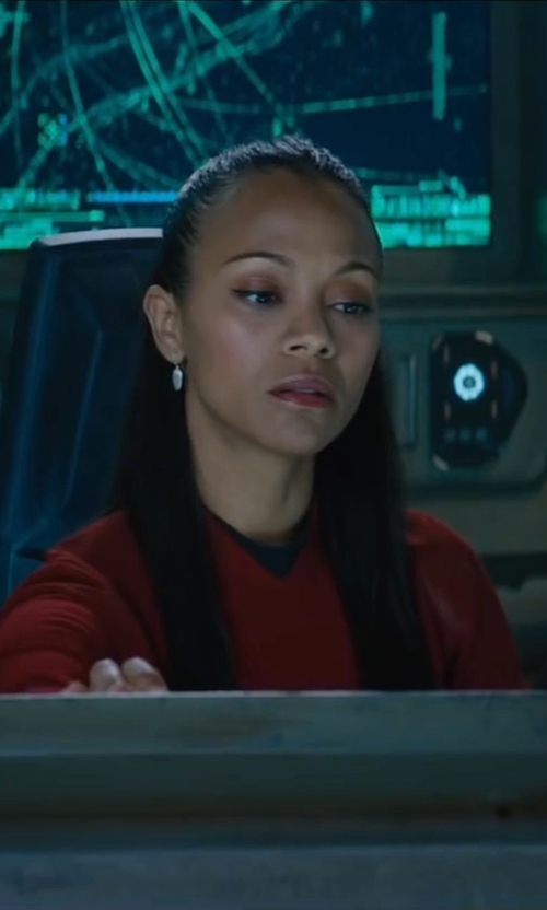 Zoe Saldana with Sanja Milkovic Hays (Costume Designer) Custom Made Uhura Dress in Star Trek Beyond