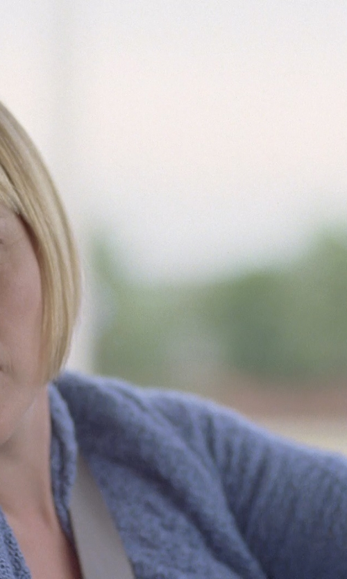 Patricia Arquette with Pure Handknit Meyers Open-Knit Cardigan Sweater in Boyhood