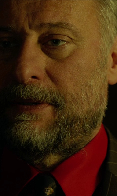 Michael Nyqvist with Tommy Hilfiger Solid Dress Shirt in John Wick