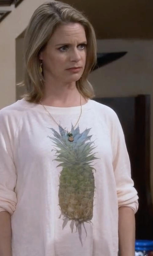 Andrea Barber with Wildfox Pineapple Sweater in Fuller House