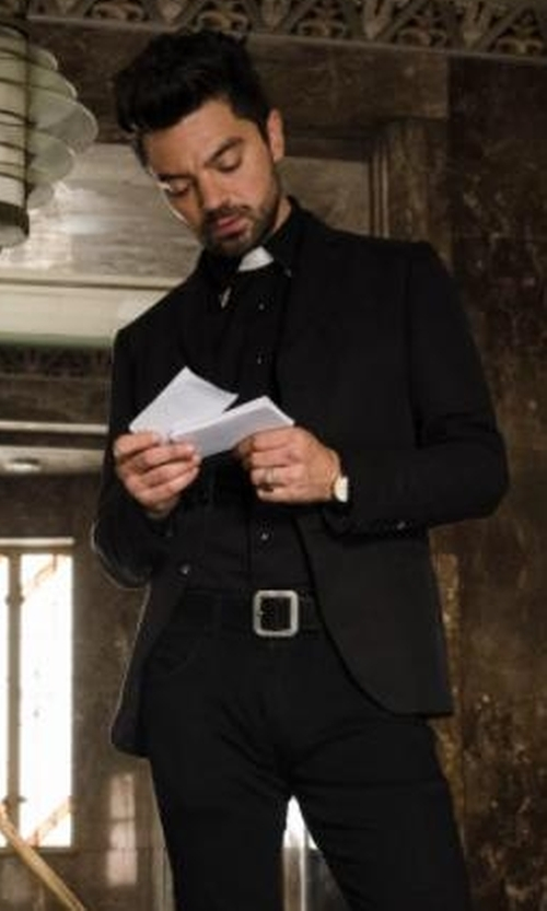 Dominic Cooper with Bosca Leather Belt in Preacher