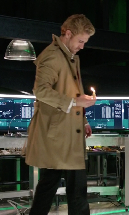 Matt Ryan with Selected Homme Trench Coat in Arrow