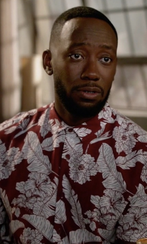 Lamorne Morris with Topman Floral Print Shirt in New Girl