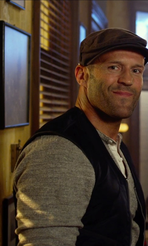 Jason Statham with Closed Henley in The Expendables 3