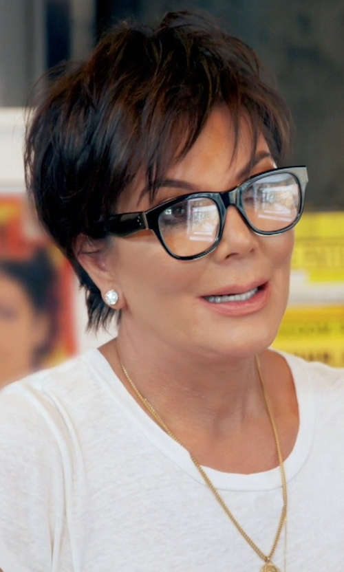Kris Jenner with Céline Strat Brow Glasses in Keeping Up With The Kardashians