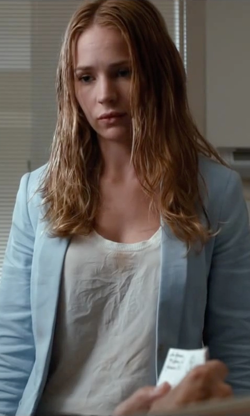 Britt Robertson with Hunger Shopping Women's Casual Work Solid Blazer in The Longest Ride