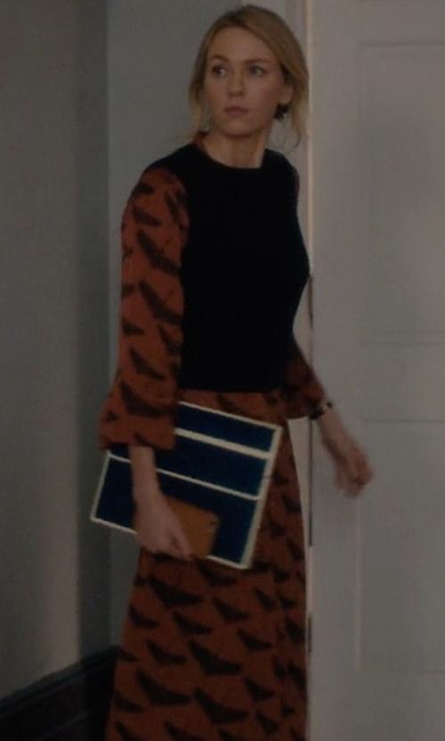 Naomi Watts with Sandro Paris Birdy Dress in Gypsy