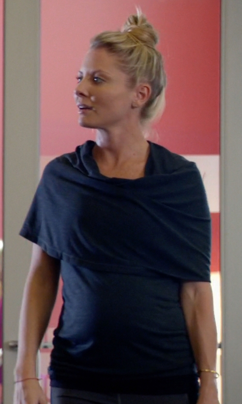 Kaitlin Doubleday with Tees by Tina Cashmere Maternity Cape in Empire