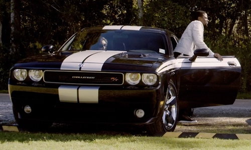 Derek Luke with Dodge Challenger Car in Self/Less