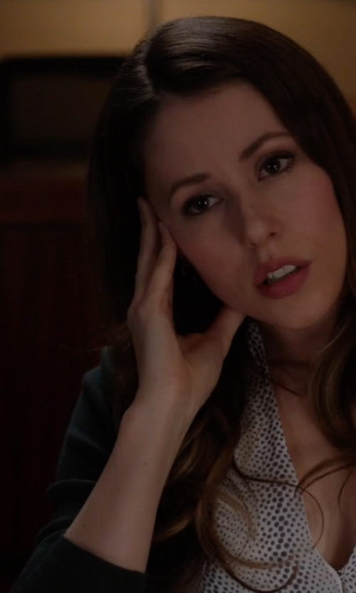Amanda Crew with Theory V-Neck Cardigan in Silicon Valley