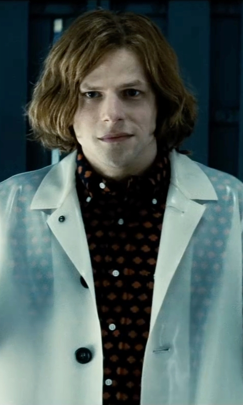 Jesse Eisenberg with DC Collectibles Armored Suit Lex Luthor Deluxe Action Figure in Batman v Superman: Dawn of Justice