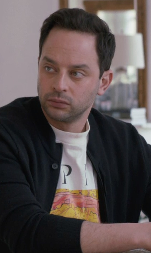 Nick Kroll with Kenzo Palm Tree Print T-Shirt in Adult Beginners