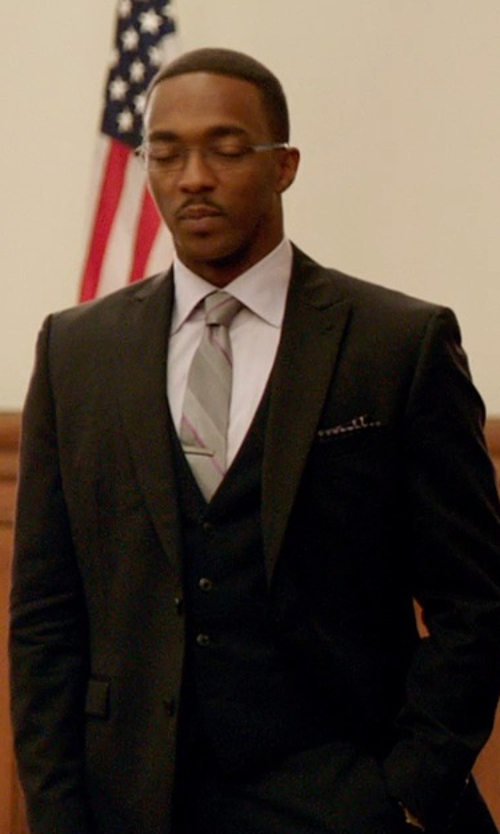 Anthony Mackie with Dolce & Gabbana Gold Fit Dress Shirt in Black or White