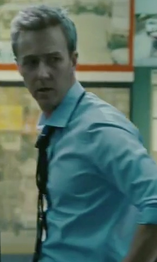 Edward Norton with Peter Millar Solid Oxford Dress Shirt in The Bourne Legacy