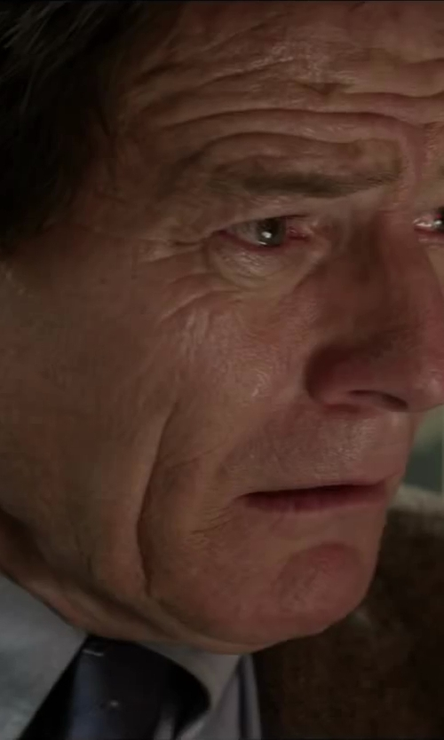 Bryan Cranston with Purple Label Solid Satin Tie in Godzilla