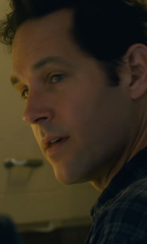 Paul Rudd with Matix Clothing Company Cassius Flannel Shirt in The Fundamentals of Caring