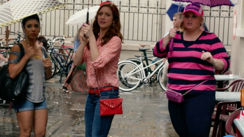 Brittany Snow with AG The Stilt Roll-Up Jeans in Pitch Perfect 2