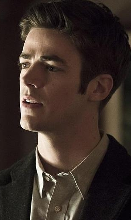 Grant Gustin with Rag & Bone Standard Issue Shirt in The Flash