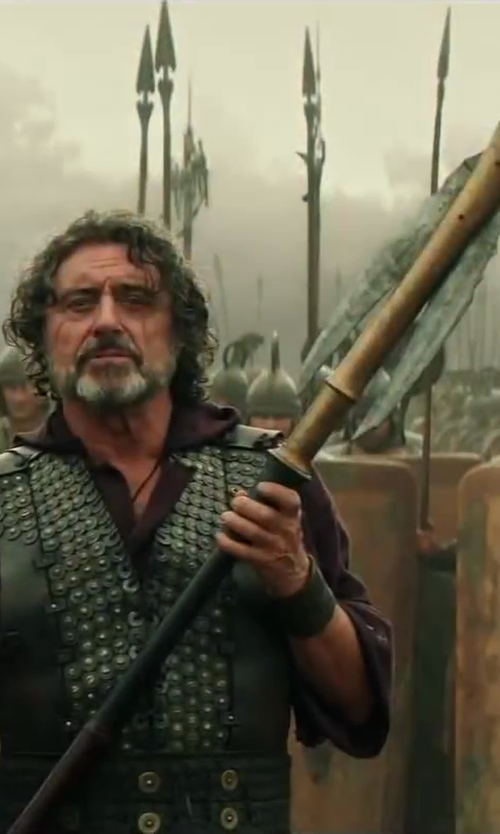 Ian McShane with Weta Workshop Custom Made Amphiaraus Staff (Amphiaraus) in Hercules