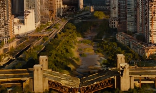 Unknown Actor with Outer Drive Bridge Chicago, Illinois in The Divergent Series: Allegiant