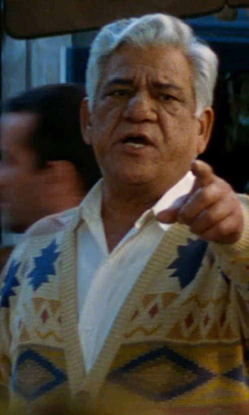 Om Puri with Gitman Brothers Pinpoint Cotton Dress Shirt in The Hundred-Foot Journey