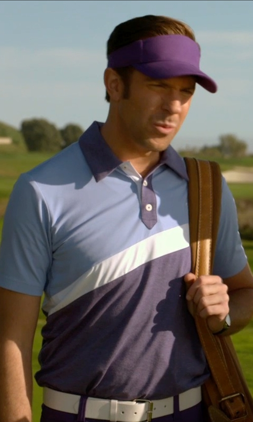 Jason Sudeikis with Adidas Golf ClimaLite Angular Color-Blocked Polo Shirt in Horrible Bosses 2