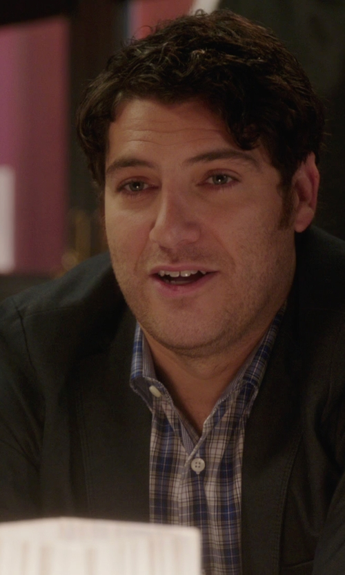 Adam Pally  with Lauren By Ralph Lauren Lucas Windowpane Sport Coat in The Mindy Project
