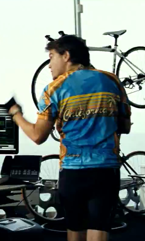 Emile Hirsch with Canari California Cycling Jersey in Savages