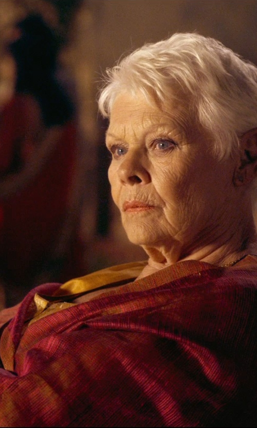 Judi Dench with Betsey Johnson Cashmere/Silk Real Pashmina Scarf in The Second Best Exotic Marigold Hotel