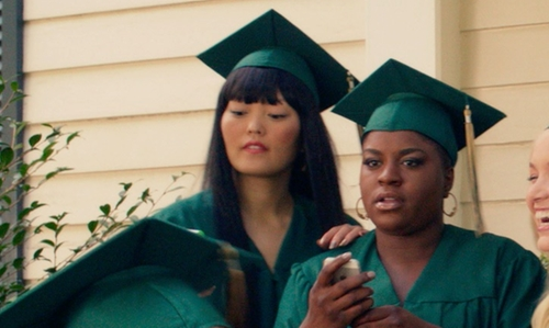 Hana Mae Lee with Josten's Graduation Cap and Gown in Pitch Perfect 2