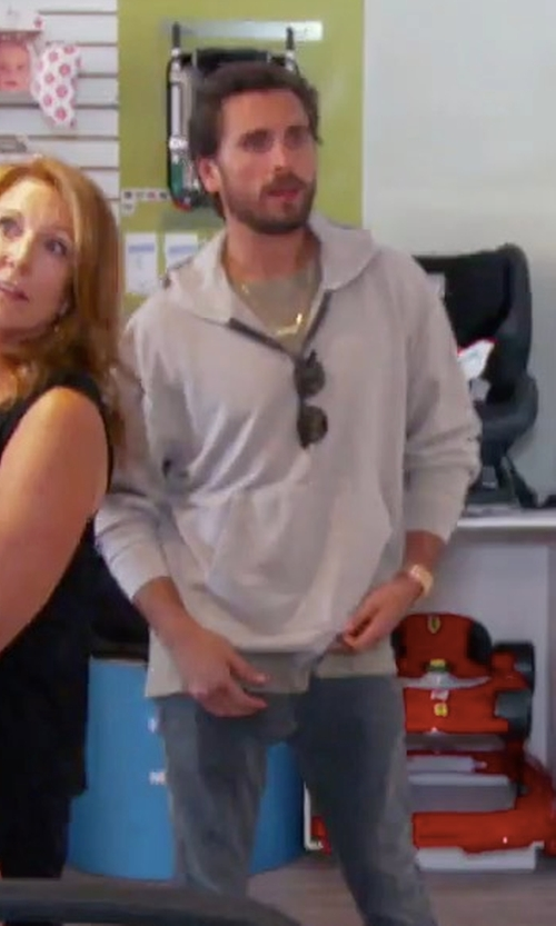 Scott Disick with John Elliott Mercer Cotton Hooded Sweatshirt in Keeping Up With The Kardashians
