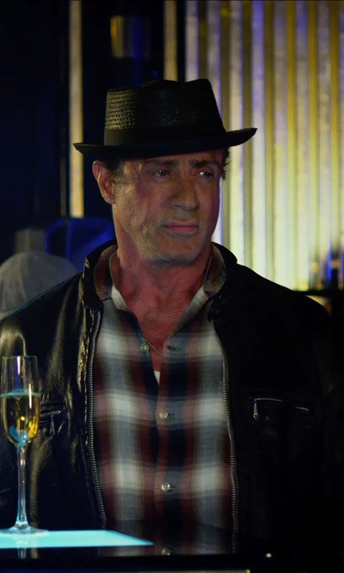 Sylvester Stallone with Cole Haan Lambskin Leather Jacket in The Expendables 3