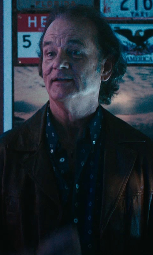 Bill Murray with Alex Mill Printed Button Down Shirt in Rock The Kasbah