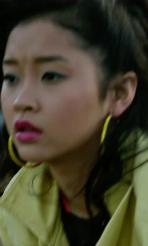 Lana Condor with Michael Kors Thin Hoop Earrings in X-Men: Apocalypse