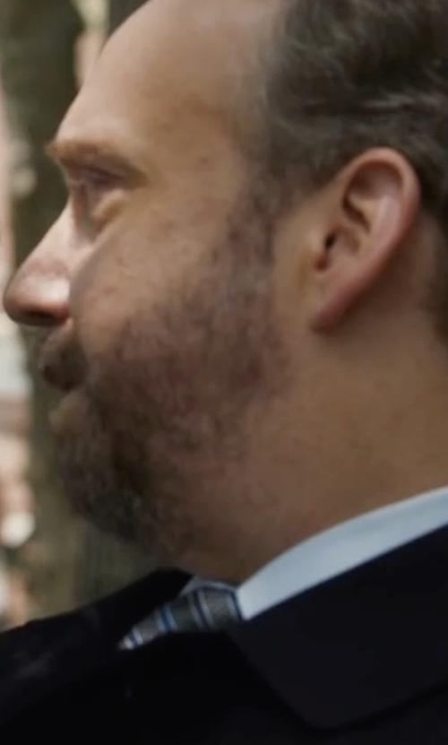Paul Giamatti with Giorgio Armani Striped Silk Tie in Billions