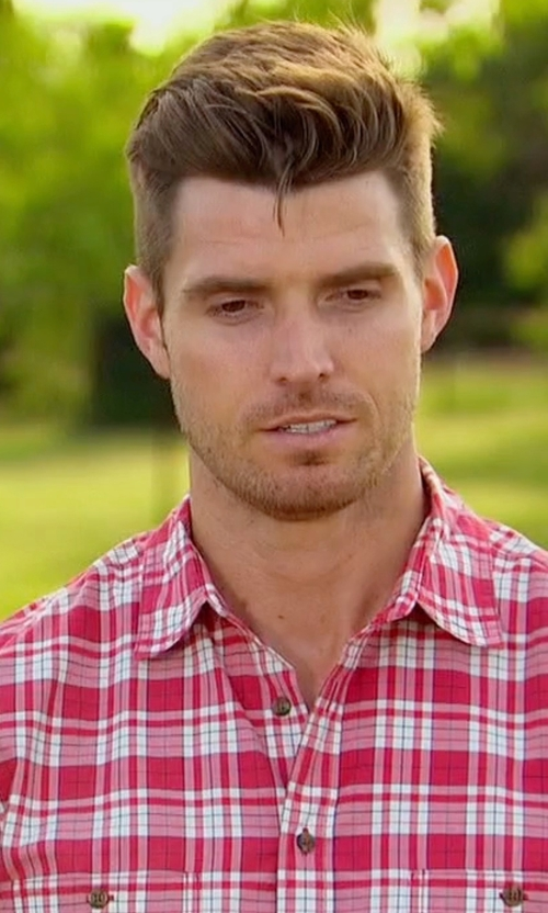 Luke with Tom Ford Plaid Tailored-Fit Sport Shirt in The Bachelorette