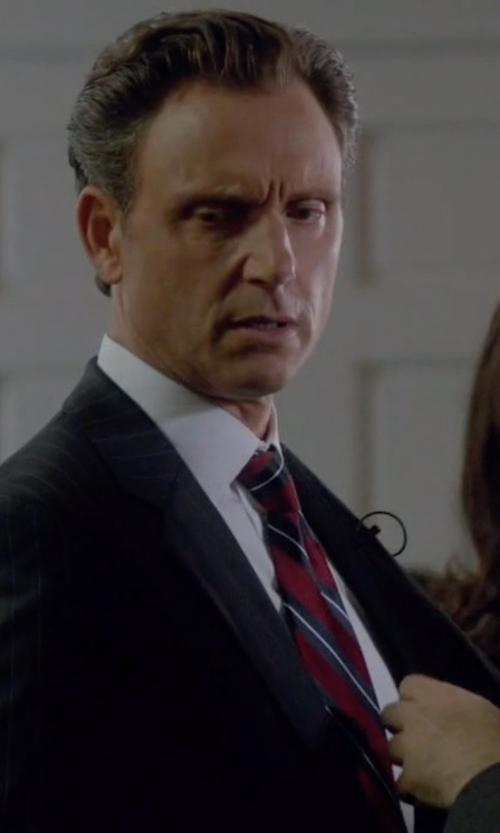 Tony Goldwyn with Brioni Striped Tie in Scandal