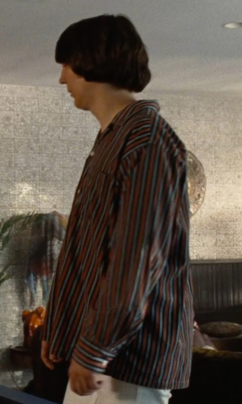 Paul Dano with Y:PSIL(O.N) Stripe Long Sleeve Shirts in Love & Mercy