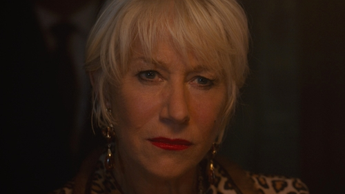 Helen Mirren with Alexis Bittar Crystal Studded Dangling Drop Earrings in The Fate of the Furious