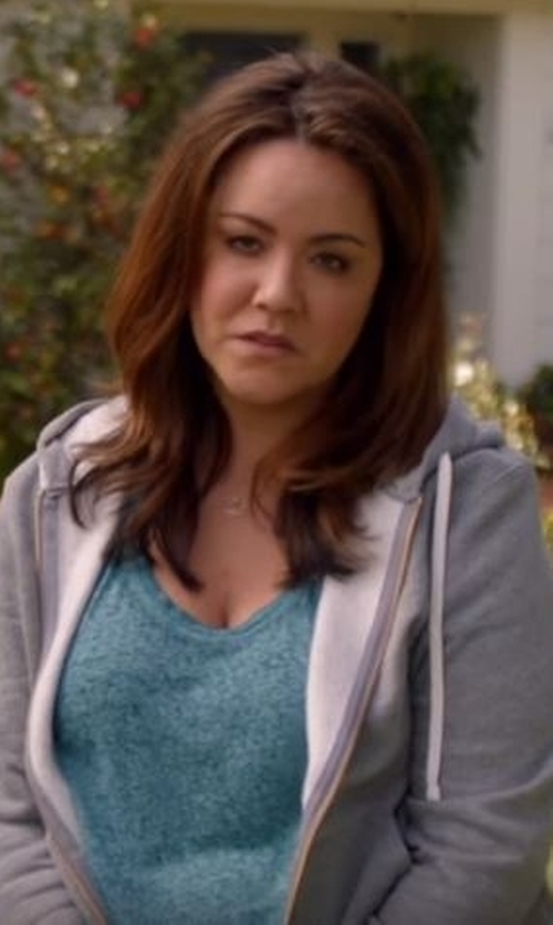 Katy Mixon with Butter Super Soft Soft Fleece Zip Hoodie in American Housewife